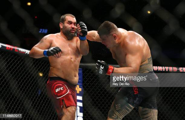 Tai Tuivasa punches Blagoy Ivanov at United Center on June 8 2019 in Chicago Illinois