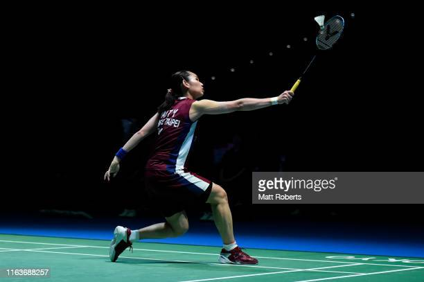 Tai Tzu Ying of Chinese Taipei competes against Beiwen Zhang of the United States during day one of the Daihatsu Yonex Japan Open Badminton...