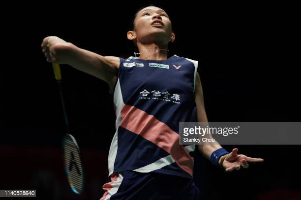 Tai Tzu Ying of Chinese Taipei in action on day four of the Badminton Malaysia Open at Axiata Arena on April 05 2019 in Kuala Lumpur Malaysia