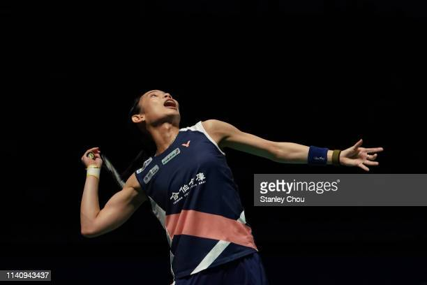 Tai Tzu Ying of Chinese Taipei in action on day six of the Badminton Malaysia Open at Axiata Arena on April 07 2019 in Kuala Lumpur Malaysia