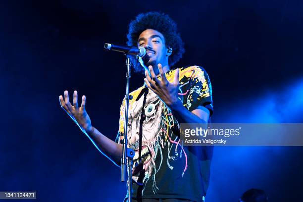 Tai Verdes performs as the opener of the QUINN XCII and Chelsea Cutler 'Stay Next to Me' tour at Radio City Music Hall on September 17, 2021 in New...