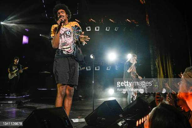 Tai Verdes performs at the finale of the QUINN XCII and Chelsea Cutler 'Stay Next to Me' tour at Radio City Music Hall on September 17, 2021 in New...