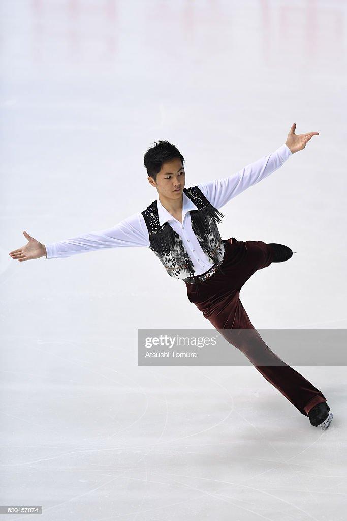 Taichi Honda of Japan competes in the Men short program during the Japan Figure Skating Championships 2016 on December 23, 2016 in Kadoma, Japan.