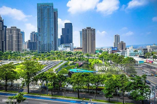 Taichung (台中) City Skyline at Maple Garden (秋紅谷景觀生態公園) Area in Taichung (台中) Taiwan (台湾)