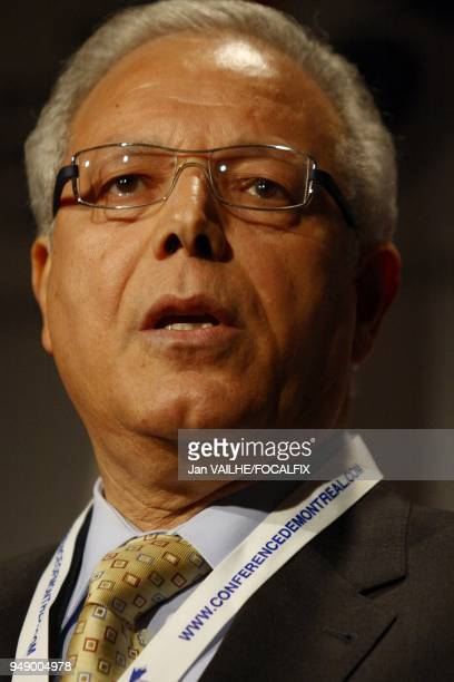 Taienb Cherif secretary general of International Civil Aviation Organization attends the International Economic Forum of the Americas He comments the...