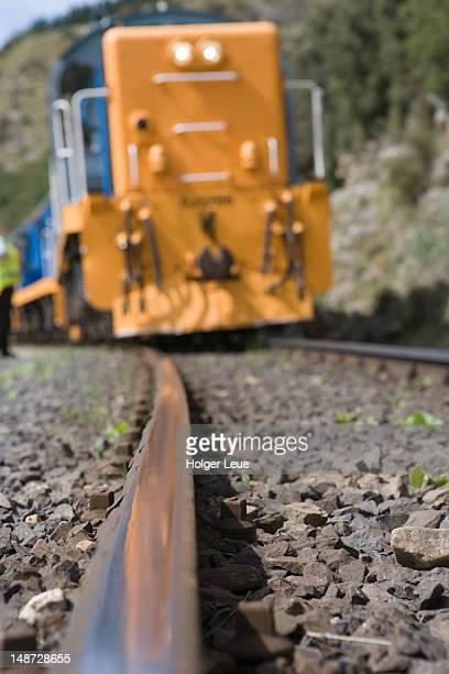 Taieri Gorge Railway passing near Hindon.