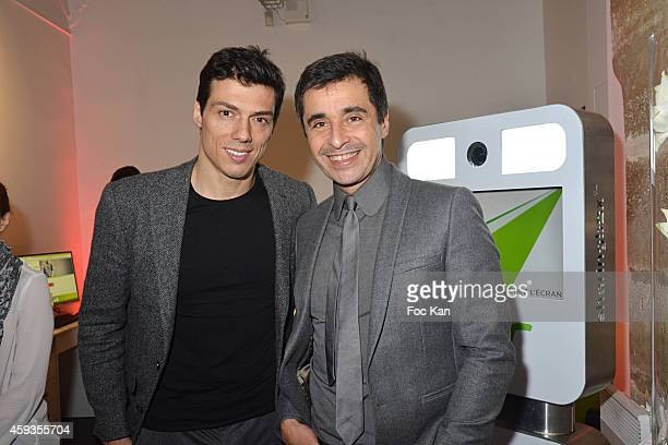 Taig Khris and Ariel Wizman attend the Acer Pop Up Store Launch Party at Les Halles on November 20, 2014 in Paris, France.