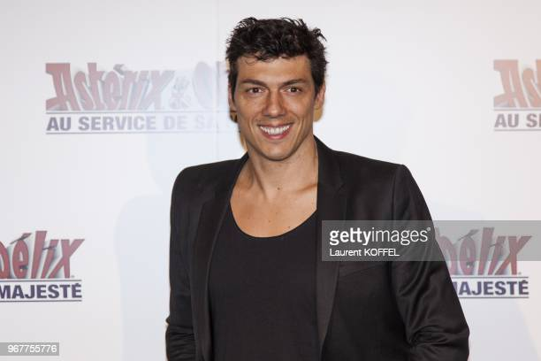 Taig Khris attends at 'Asterix et Obelix au service de sa majeste' film premiere at 'Le Grand Rex' on September 30 2012 in Paris France