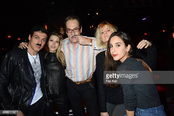 Taig Khris Tristane Banon Emmanuel de Brantes Kym Thitriot and Mary Brown attend the 'Moustache Party' At The Titty Twister Club on December 12 2013...