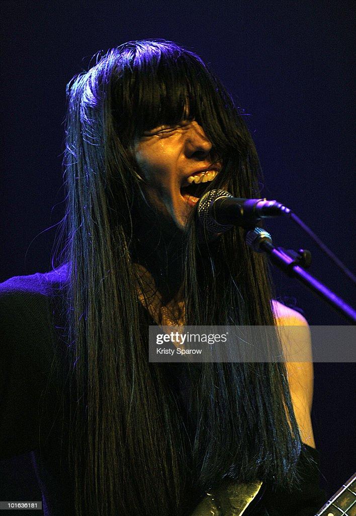 Taigen of Bo Ningen performs on stage during the Villette Sonique Festival at Grande Halle de La Villette on June 4, 2010 in Paris, France.