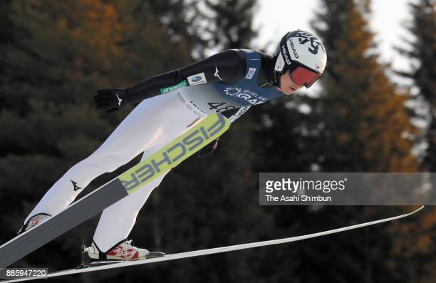 Taihei Kato of Japan competes in the ski jumping of the Men's Gundersen LH HS140/100 K during day two of the FIS Nordic Combined World Cup on...