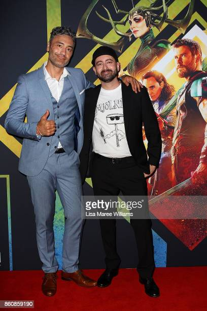 Taika Waitit and Brad Winderbaum arrive for the Australian Premiere of Thor Ragnarok on October 13 2017 in Gold Coast Australia