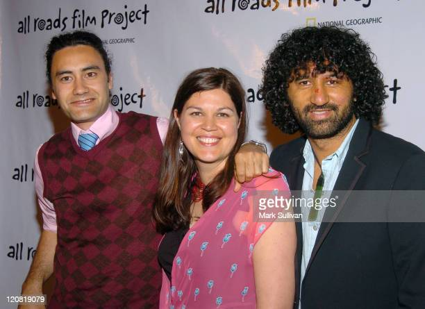 Taika Waititi Ainsley Gardiner and Cliff Curtis during Opening Night of National Geographic's All Roads Film Project Festival at Egyptian Theatre in...
