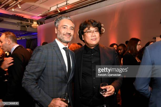 Taika Waititi and Bong Joon-ho attend the 92nd Oscars Nominees Luncheon on January 27, 2020 in Hollywood, California.