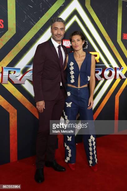 Taika Waititi and Chelsea Winstanley attends the Thor Ragnarok Sydney Screening Event on October 15 2017 in Sydney Australia