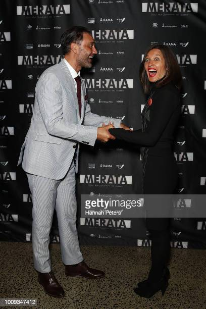 Taika Waititi and his wife producer and director Chelsea Winstanley attend the world premiere of Merata How Mum Decolonised the Screen at ASB...