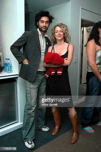 Taika Waititi and Loren Horsely during TMG Luxury Suite Day 2 at Luxe Hotel in Beverly Hills California United States