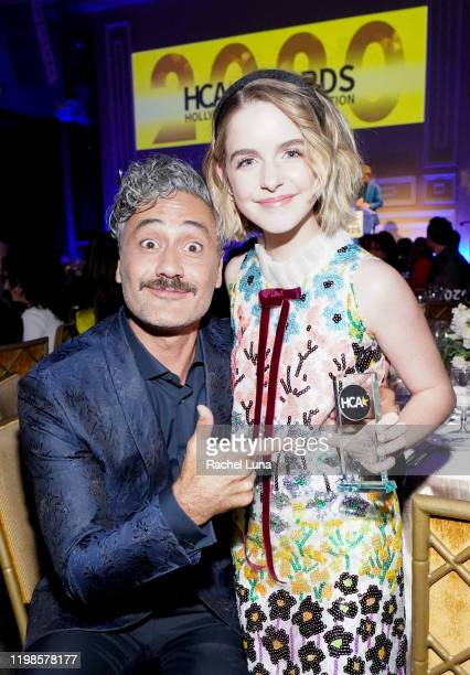 Taika Waititi and McKenna Grace attend the 3rd Annual Hollywood Critics Awards at Taglyan Complex on January 09 2020 in Los Angeles California