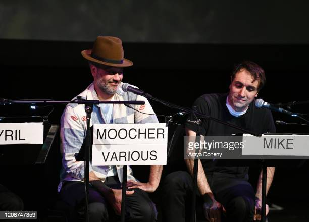 "Taika Waititi and Michael Covino at the Film Independent Screening Series Presents Live Read Of ""Breaking Away"" at Wallis Annenberg Center for the..."
