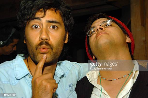 Taika Waititi and Sterlin Harjo during 2006 Sundance Film Festival Native Forum Party at Legacy Lounge in Park City Utah United States