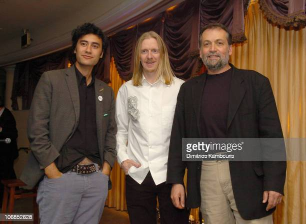 Taika Waititi Andrew Adamson and Joe Letteri during Fourth Annual Celebration of New Zealand Filmmaking and Creative Talent Pre Oscar Dinner at The...