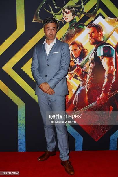 Taika Waititi arrive for the Australian Premiere of Thor Ragnarok on October 13 2017 in Gold Coast Australia