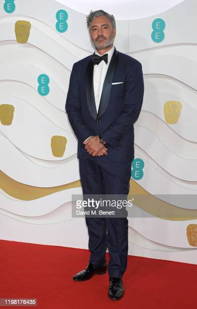Taika Waititi arrives at the EE British Academy Film Awards 2020 at Royal Albert Hall on February 2, 2020 in London, England.