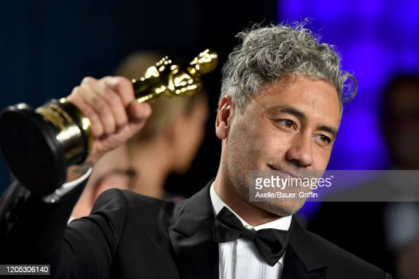 Taika Waititi attends the 2020 Vanity Fair Oscar Party hosted by Radhika Jones at Wallis Annenberg Center for the Performing Arts on February 09 2020...