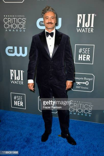 Taika Waititi attends the 25th Annual Critics' Choice Awards at Barker Hangar on January 12, 2020 in Santa Monica, California.