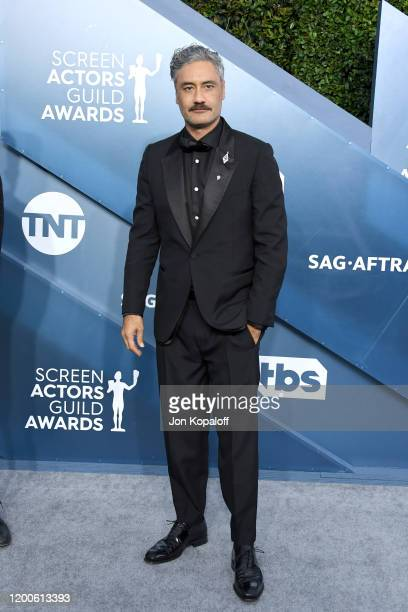 Taika Waititi attends the 26th Annual Screen ActorsGuild Awards at The Shrine Auditorium on January 19 2020 in Los Angeles California