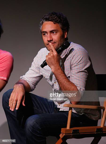 Taika Waititi attends The Apple Store Soho Presents Meet the Filmmakers Jemaine Clement and Taika Waititi 'What We Do in the Shadows' at Apple Store...