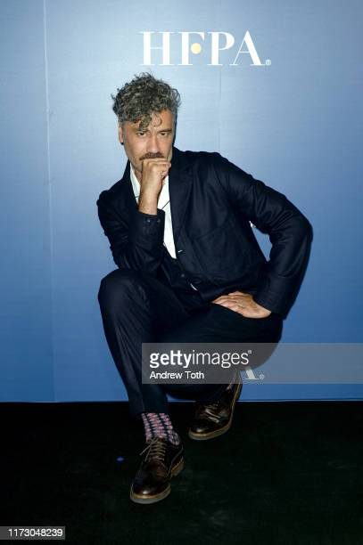 Taika Waititi attends The Hollywood Foreign Press Association and The Hollywood Reporter party at the 2019 Toronto International Film Festival at...