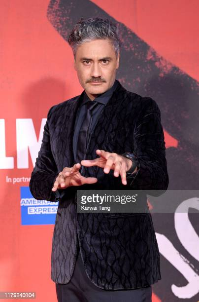 Taika Waititi attends the JoJo Rabbit European Premiere during the 63rd BFI London Film Festival at the Odeon Luxe Leicester Square on October 05...