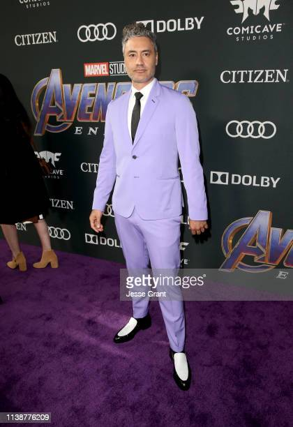 Taika Waititi attends the Los Angeles World Premiere of Marvel Studios' Avengers Endgame at the Los Angeles Convention Center on April 23 2019 in Los...