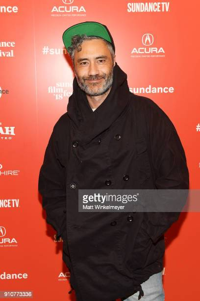 Taika Waititi attends the Sundance Film Festival Power of Story Panel Indies Go Hollywood at Egyptian Theatre on January 26 2018 in Park City Utah