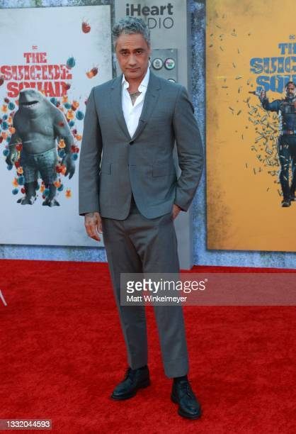 """Taika Waititi attends the Warner Bros. Premiere of """"The Suicide Squad"""" at Regency Village Theatre on August 02, 2021 in Los Angeles, California."""