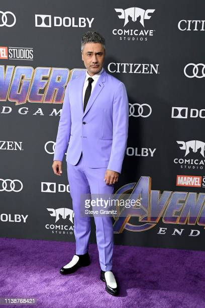Taika Waititi attends the world premiere of Walt Disney Studios Motion Pictures Avengers Endgame at the Los Angeles Convention Center on April 22...