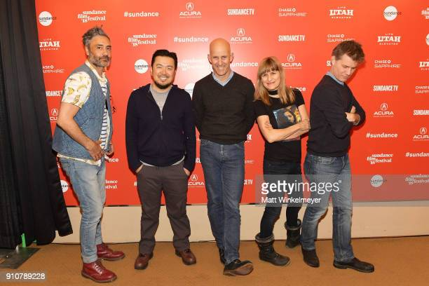 Taika Waititi Justin Lin John Horn Catherine Hardwicke and John Nein attend the 2018 Sundance Film Festival Power of Story Panel Indies Go Hollywood...