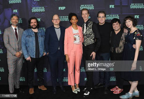 Taika Waititi Matt Berry Mark Proksch Stefani Robinson Doug Jones Paul Simms Harvey Guillen and Kristen Schaal attend the FYC event of FX's What We...