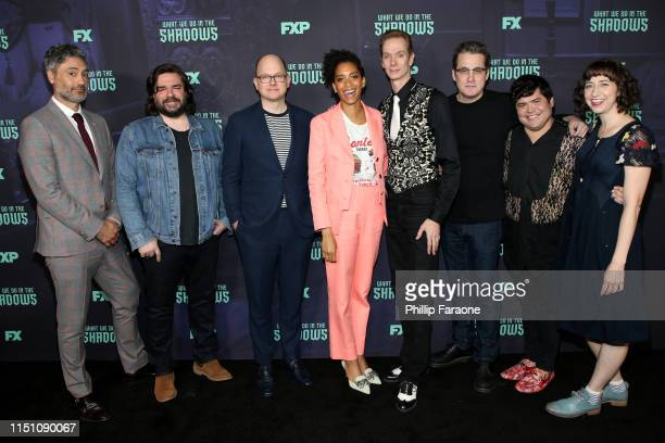 Taika Waititi Matt Berry Mark Proksch Stefani Robinson Doug Jones Paul Simms Harvey Guillen and Kristen Schaal attend the FYC event of FX's What We...