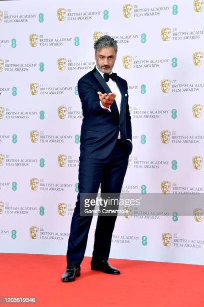 Taika Waititi poses in the Winners Room during the EE British Academy Film Awards 2020 at Royal Albert Hall on February 02, 2020 in London, England.
