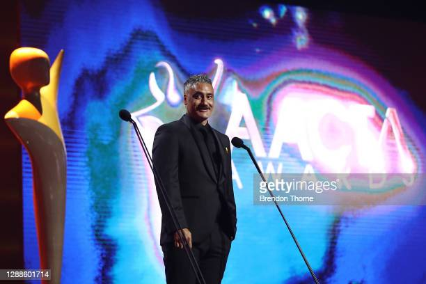 Taika Waititi presents the AACTA Award for Best Drama Series during the 2020 AACTA Awards presented by Foxtel at The Star on November 30, 2020 in...