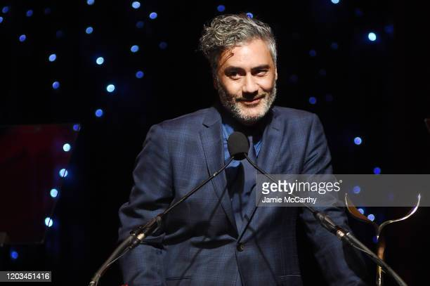 Taika Waititi speaks onstage at the 72nd Writers Guild Awards at Edison Ballroom on February 01 2020 in New York City