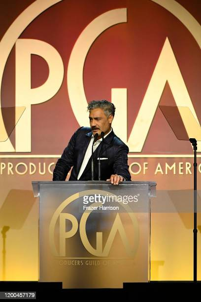 Taika Waititi speaks onstage during the 31st Annual Producers Guild Awards at Hollywood Palladium on January 18, 2020 in Los Angeles, California.