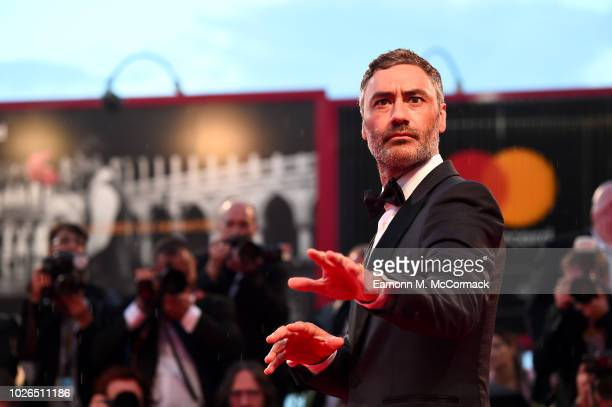 Taika Waititi walks the red carpet ahead of the 'At Eternity's Gate' screening during the 75th Venice Film Festival at Sala Grande on September 3...