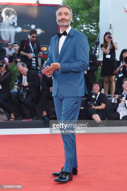 Taika Waititi walks the red carpet ahead of the Award Ceremony during the 75th Venice Film Festival at Sala Grande on September 8 2018 in Venice Italy
