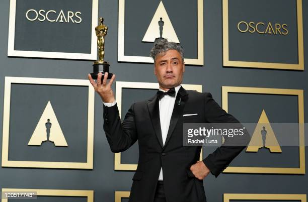 Taika Waititi winner of Best Adapted Screenplay for Jojo Rabbit poses in the press room during the 92nd Annual Academy Awards at Hollywood and...