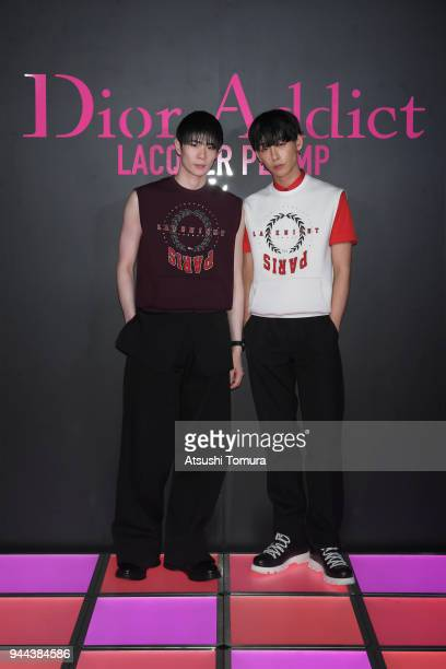 TaikiNOAH attends the Dior Addict Lacquer Plump Party at 1 OAK on April 10 2018 in Tokyo Japan