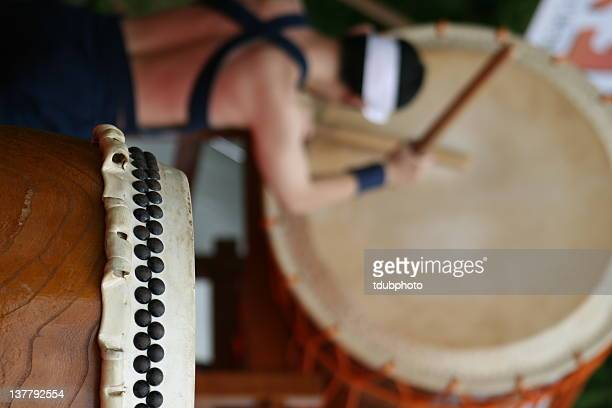 Taiko drum and drummer