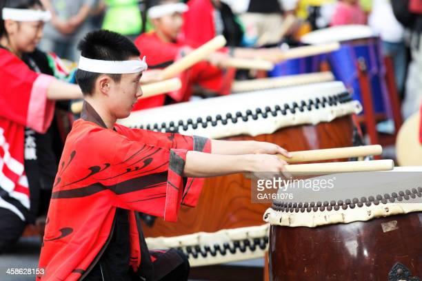 和太鼓パフォーマーでおはら祭の鹿児島